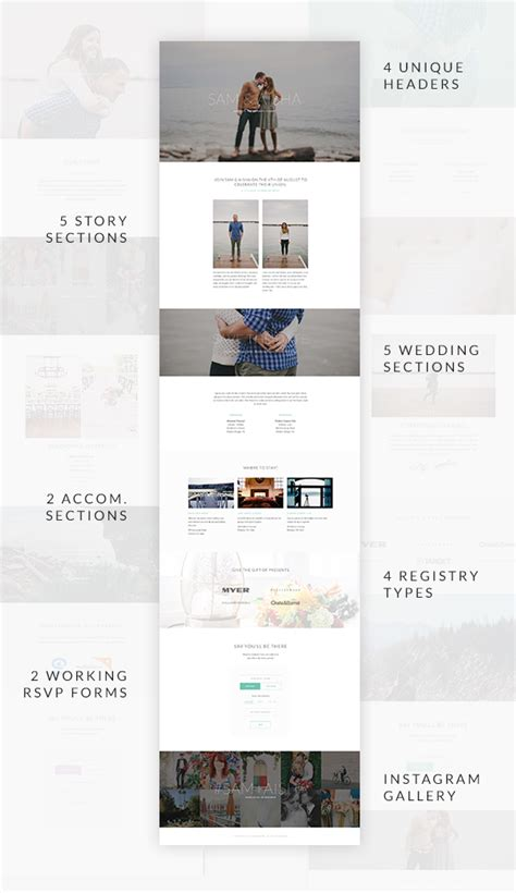 pehaa themes page builder union wedding template with page builder site templates