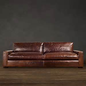 Restoration Hardware Leather Sofas Maxwell Leather Sofa