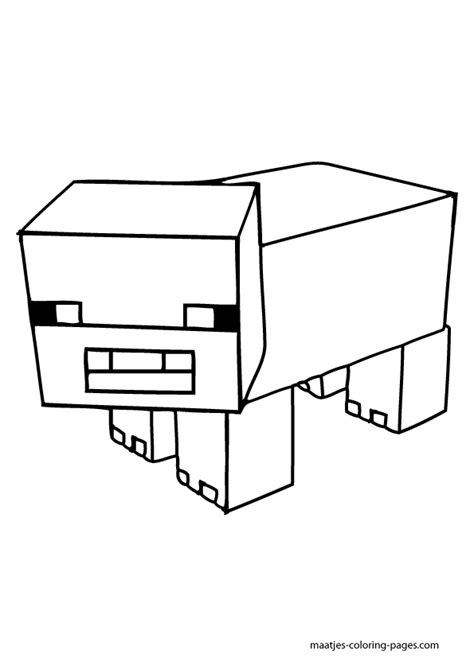 minecraft coloring pages pig minecraft furious destroyer coloring pages printable