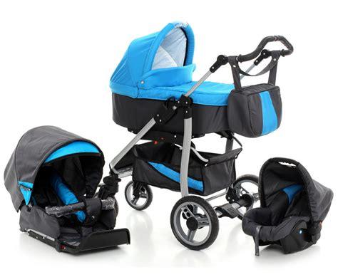 Pasangan Setelan Boy Combi Black baby travel system blue pram pushchair 3in1 child stroller car seat 6 colours ebay