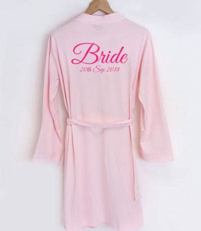 Wedding Dressing Gowns by Personalised Bridesmaid Dressing Gowns Wedding