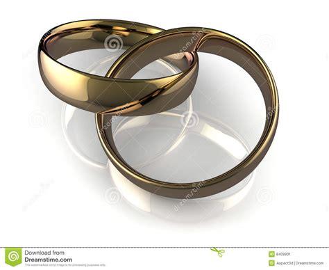 linked wedding rings stock image image 8409931