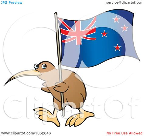 royalty free vector clip art illustration of a kiwi bird