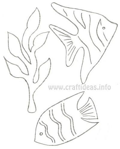 templates for under the sea creatures free craft patterns under the sea seaweed and fish