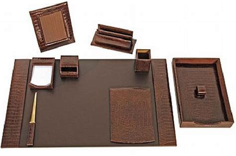 Luxury Office Desk Accessories Luxury Alligator Calf Desk Set By T Anthony A Elite Choice