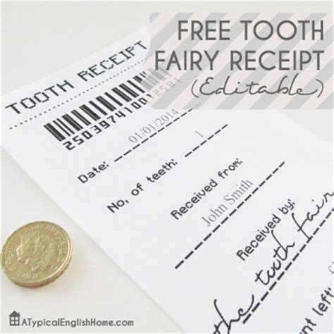 tooth receipt template editable a typical home free tooth receipt template