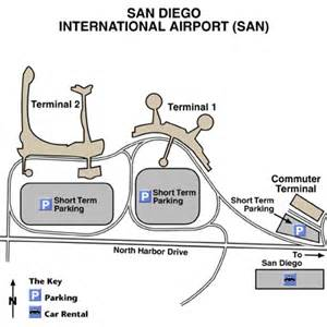 San Diego Airport Map by San Diego International Airport Airport Maps Maps And