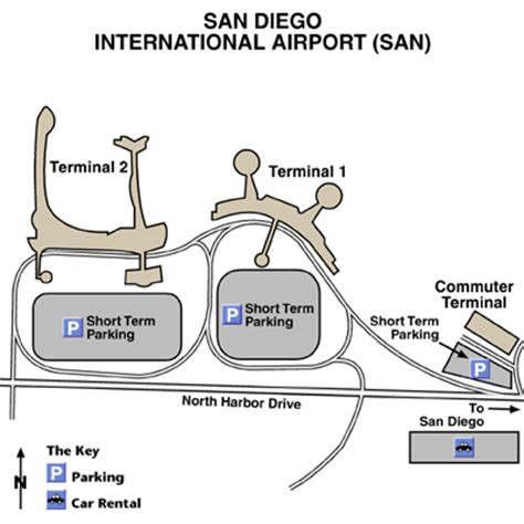 san diego airport map san diego airport map images