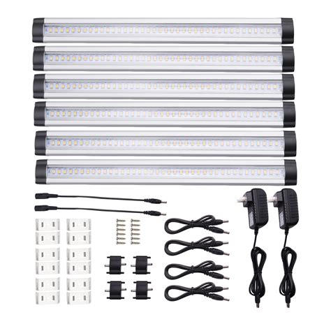 led dimmable cabinet lighting pack of 6 units 12w dimmable cabinet lighting le 174