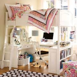 How creative extraordinary loft beds for girls with desk kids bedroom design ideas