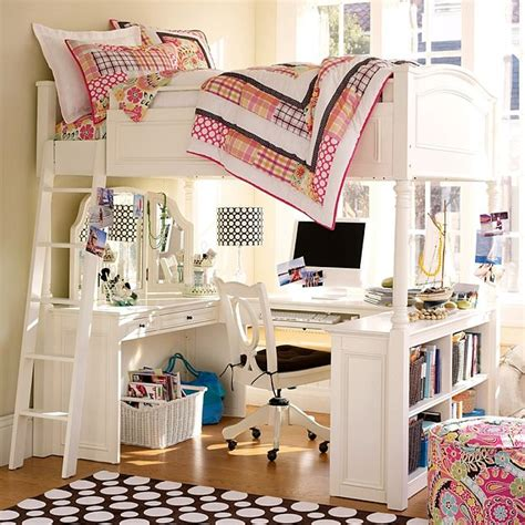 girls loft bed with desk bunk beds with desk for girls bedroom ideas pictures
