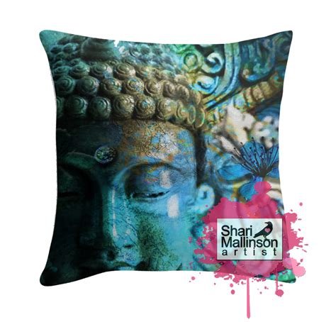 Shooting Through A Pillow by Buddha S Mystery Throw Pillow And Insert Turquoise And Gold