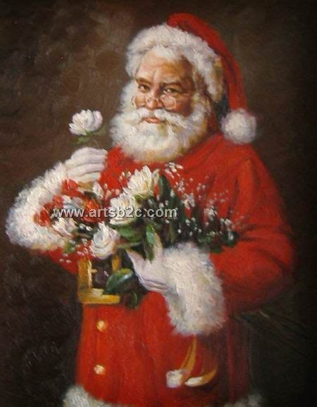 painting santa claus santa claus paintings for sale