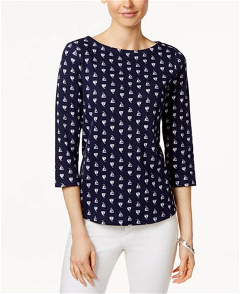charter boat hits sailboat charter club petite sailboat print boat neck top only at