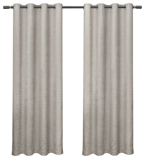 Criss Cross Curtains Criss Cross Chenille Eyelash Darkening Grommet Curtain Panels 54 Quot X108 Set Of 2 Modern