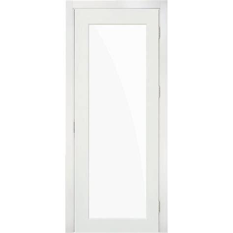 Single Lite Interior Door by Krosswood Doors 24 In X 80 In 1 Lite Solid Mdf