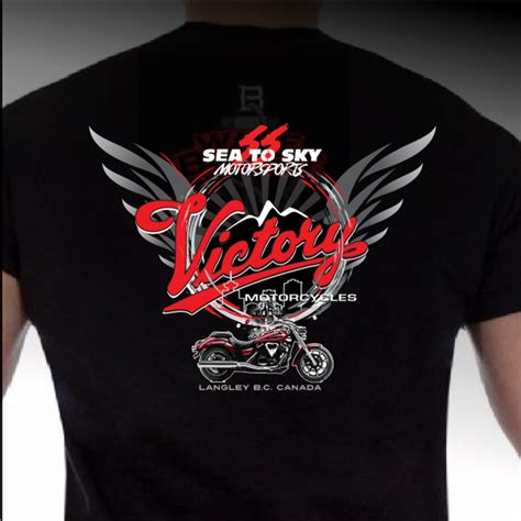 Victory Motorrad T Shirt by Competition Victory Sea To Sky T Shirt Stock Logos