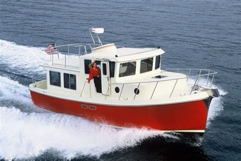best cruising power boats under 40 feet american tugs 365 cruising pocket trawler style boats