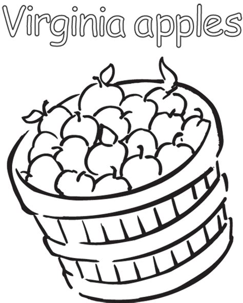 fall apples coloring pages free coloring pages