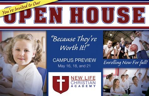 christian school open house flyer pictures to pin on