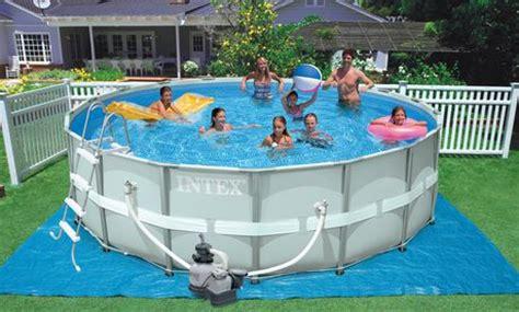 backyard swimming pools walmart intex 16 x 48 ultra frame pool set walmart ca