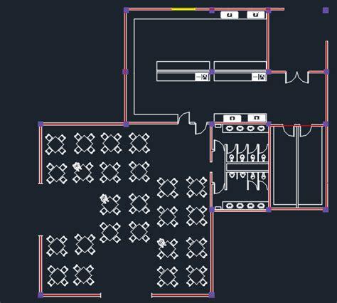 restaurant layout plan dwg two levels restaurant with floor plans 2d dwg design plan
