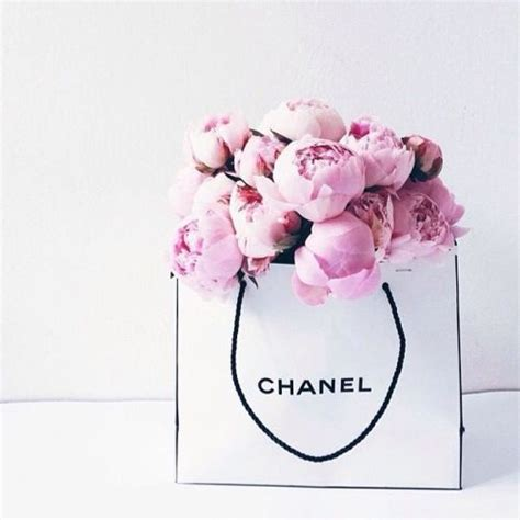 Coffee Table Flower Arrangements by Chanel Peonies Bag