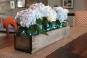 rustic wooden planter centerpiece box rustic home decor wood