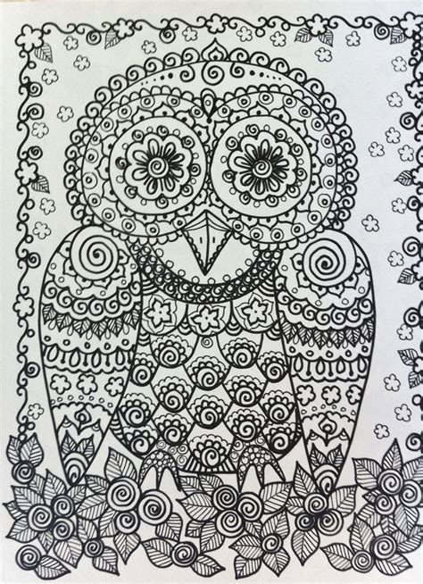 intricate owl coloring pages owl by chubby mermaid zentangle coloring pages colouring
