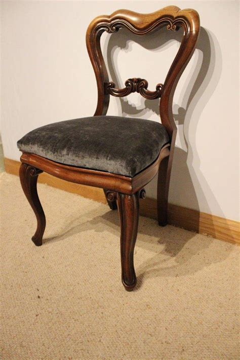 set   mahogany victorian period antique dining chairs