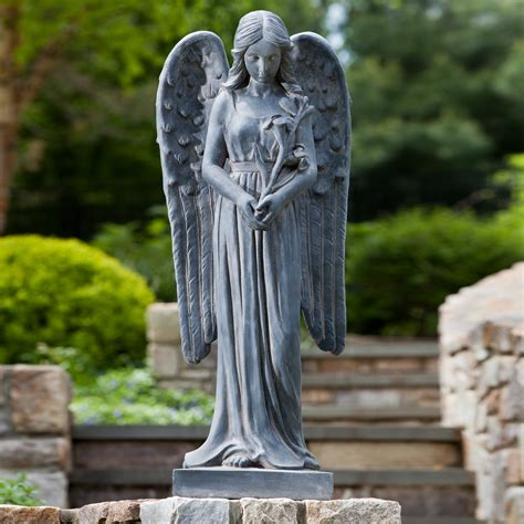 alfresco home standing angel garden statue garden