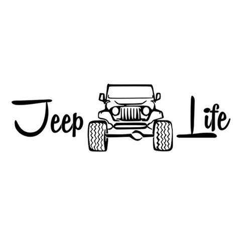 jeep life jeep life die cut vinyl decal pv1882