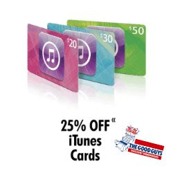 Itunes Gift Card 20 Off - expired 25 off itunes cards at the good guys until july 1st gift cards on sale
