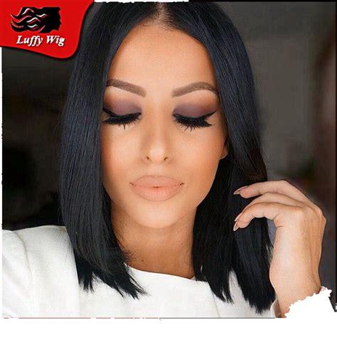 layer bob wigs for black women layered human hair short bob wigs glueless lace front