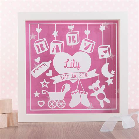 Cheap Home Decor Uk by Personalised New Baby Box Frame Cheap Home Accessories Uk