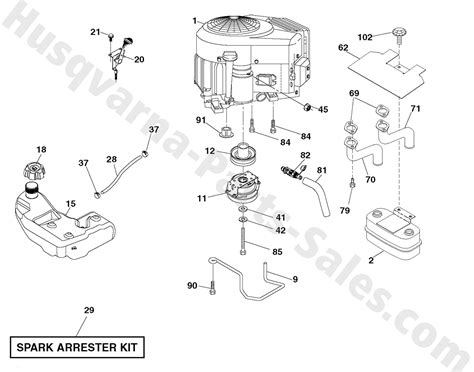 husky mower engine diagram mower