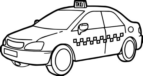 taxi driver car fast coloring page wecoloringpage