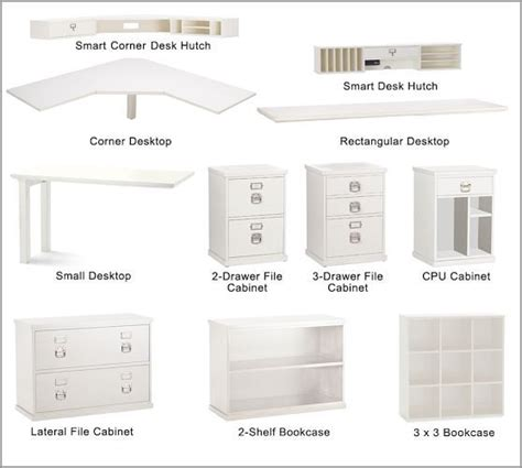 Home Office Desk Components All The Pieces To Choose From Bedford Corner Desk Set