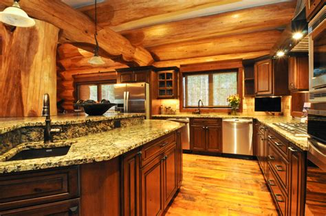 log house interiors 2013 parade home moose ridge cabin log home traditional kitchen denver by