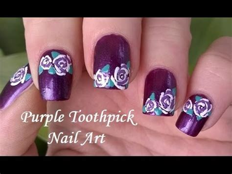 nail art tutorial with toothpick toothpick nail art tutorial 5 how to rose nail art in