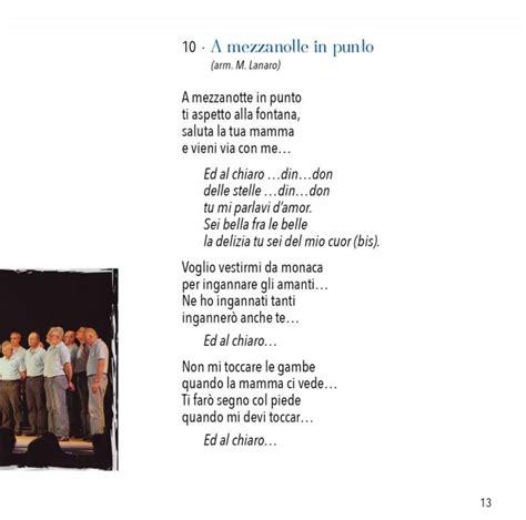 testo i a cantamonti nuovo cd coro cai di vittorio veneto