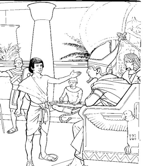 joseph interpreting pharaoh s dreams bible coloring page