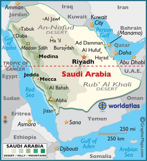 where is saudi arabia on the world map saudi arabia large color map