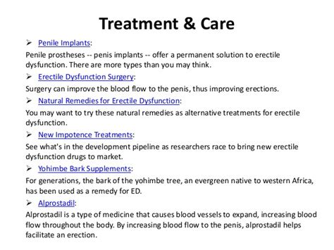 erectile dysfunction symptoms and treatment