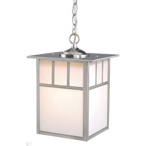 Pendant Lighting Stainless Steel Stainless Steel Mission Outdoor Pendant Light 9 Inch