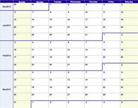 12 Week Year Templates by Numbers 2013 Weekly Calendar Template Free Iwork Templates
