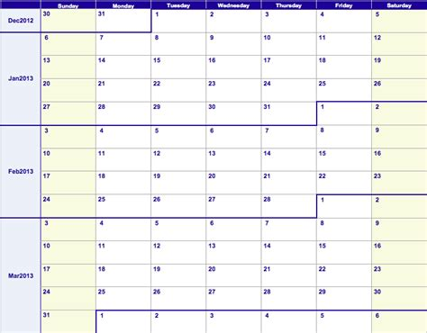 numbers 2013 weekly calendar template free iwork templates