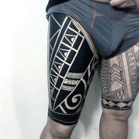 upper leg tattoos for men 100 maori designs for new zealand tribal ink ideas