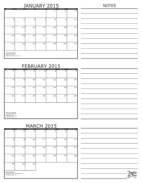 4 month calendar template 2015 3 month calendar 2015
