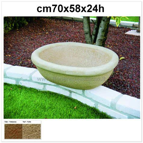 vasi in pietra da giardino vasi giardino minnesota 540ar636 in pietra ricostruita ovale